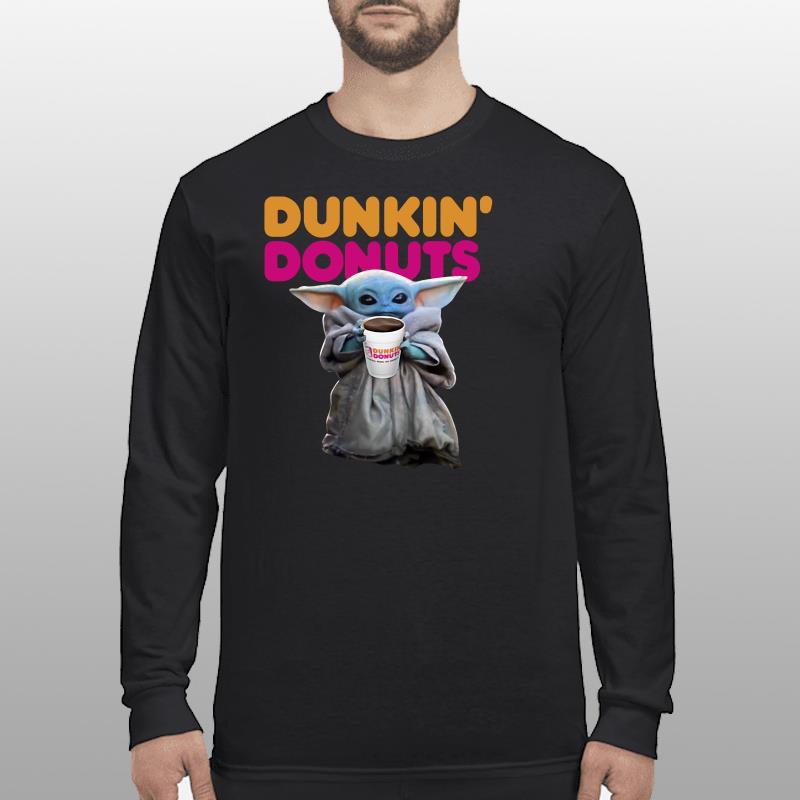 Star Wars Baby Yoda Dunkin' Donuts shirt longsleeve