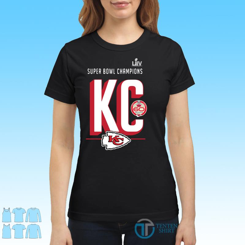 Super bowl liv champions Kansas city chiefs hometown 2020 shirt Ladies tee
