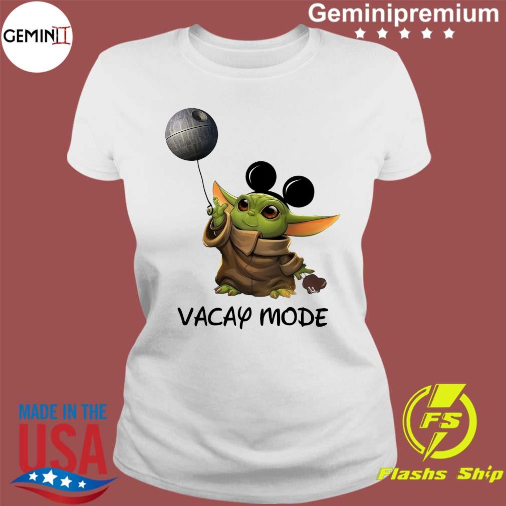 Star Wars Baby Yoda Vacay Mode s Ladies tee
