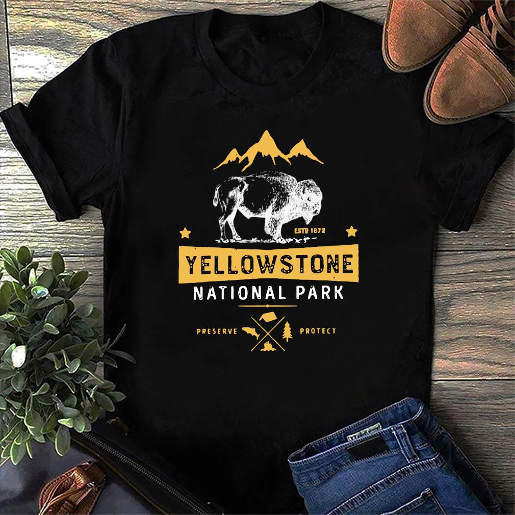 Yellowstone National Park Bison Buffalo Preserve Protect Shirt