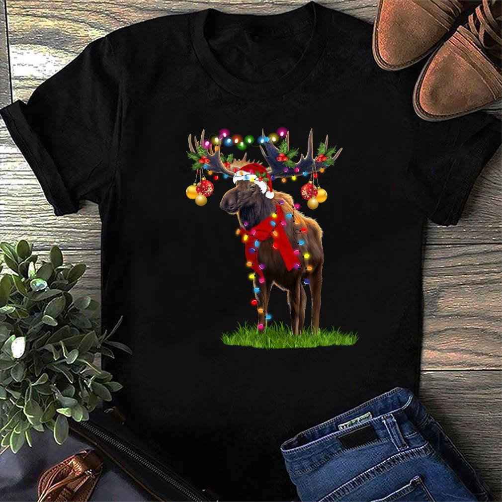Reindeer Merry Christmas Light Shirt