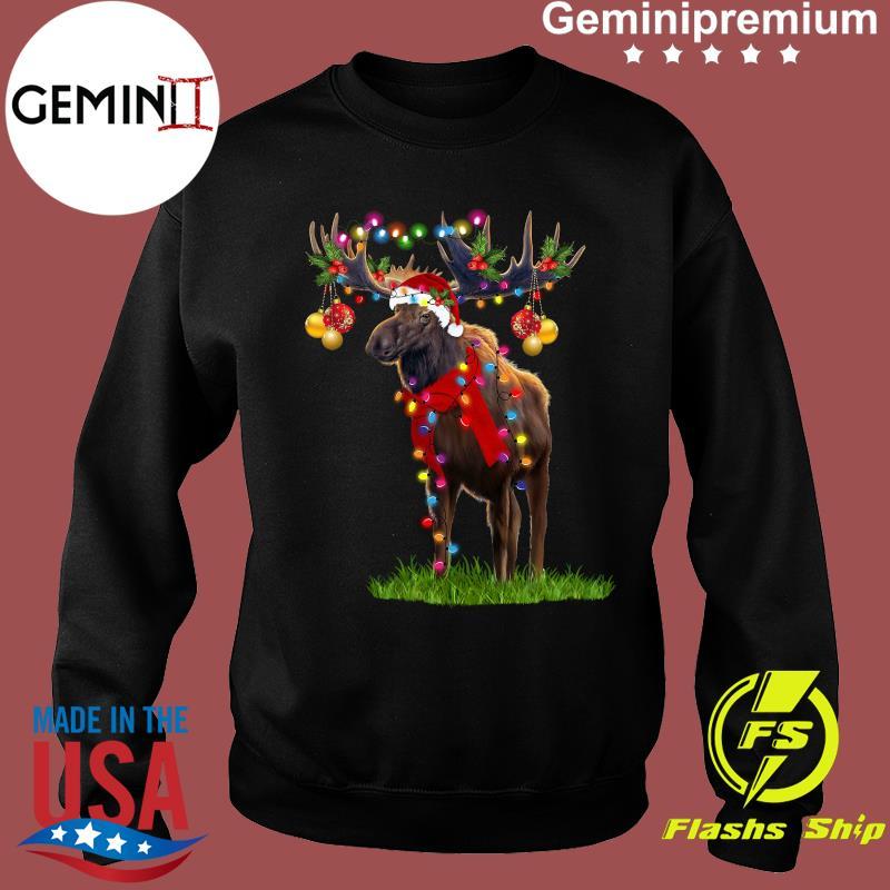 Reindeer Merry Christmas Light Shirt Sweater