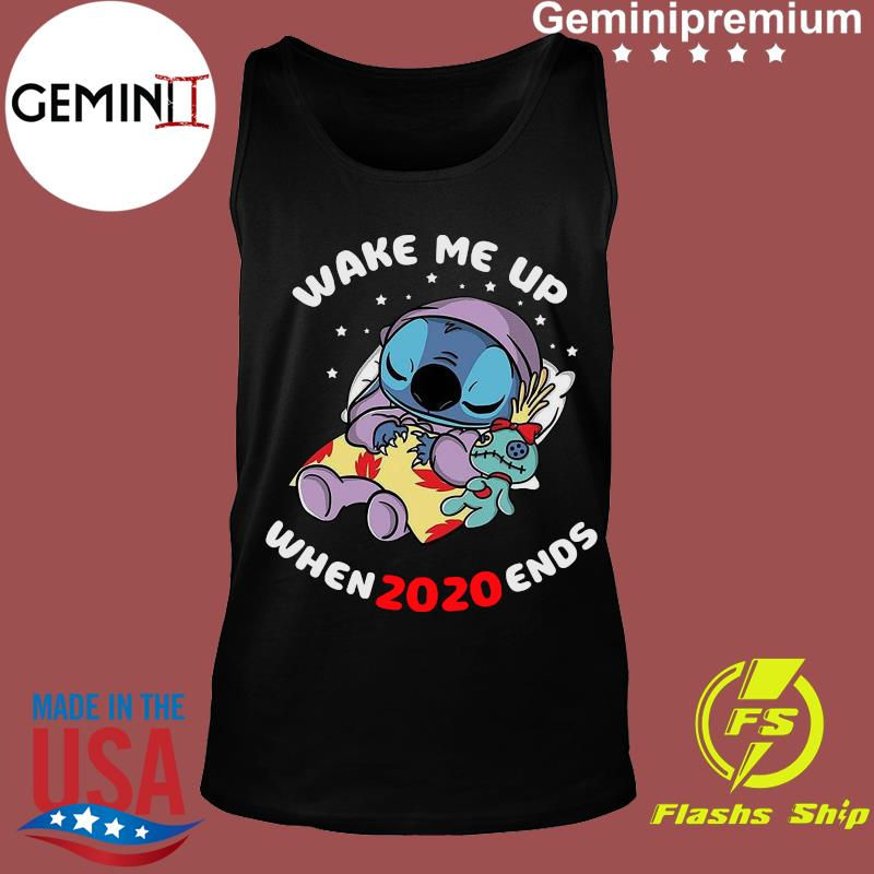 Stitch And Scrumps Sleep Wake Me Up When 2020 Ends Shirt ...