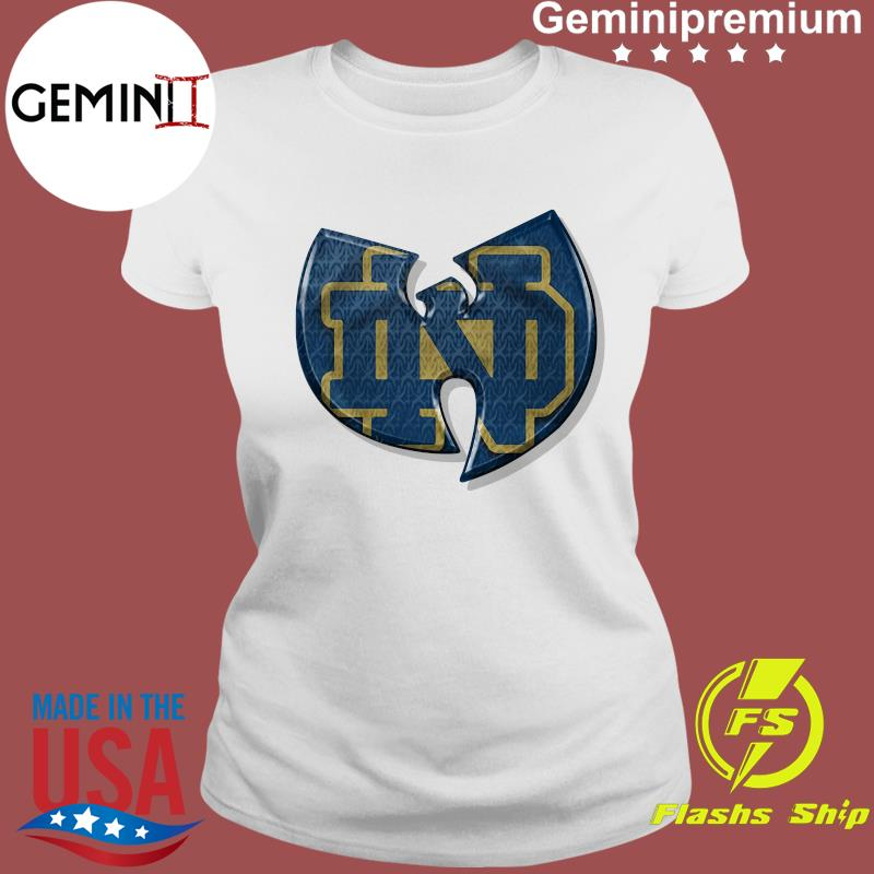 Wu Tang Notre Dame Fighting Irish Shirt Ladies tee