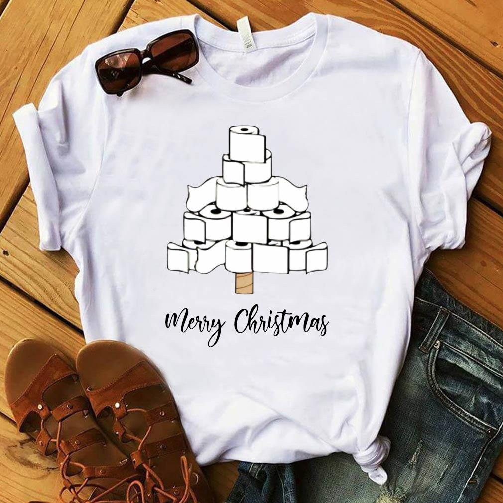 Toilet Paper Merry Christmas Tree Shirt
